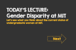 Gender Disparity at MIT
